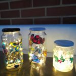 Liven up your workspace with a decorative illuminated jar,