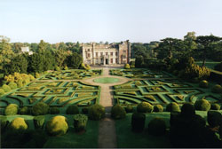Arial view of elvaston castle and gardens